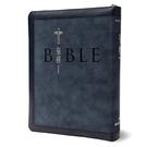 聖經和合本(藍色麂皮拉鍊索引銀邊)