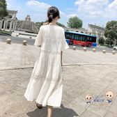 洋裝  孕婦夏裝洋裝仙女超仙2019新款韓版時尚寬鬆休閒短袖過膝長裙潮 1色