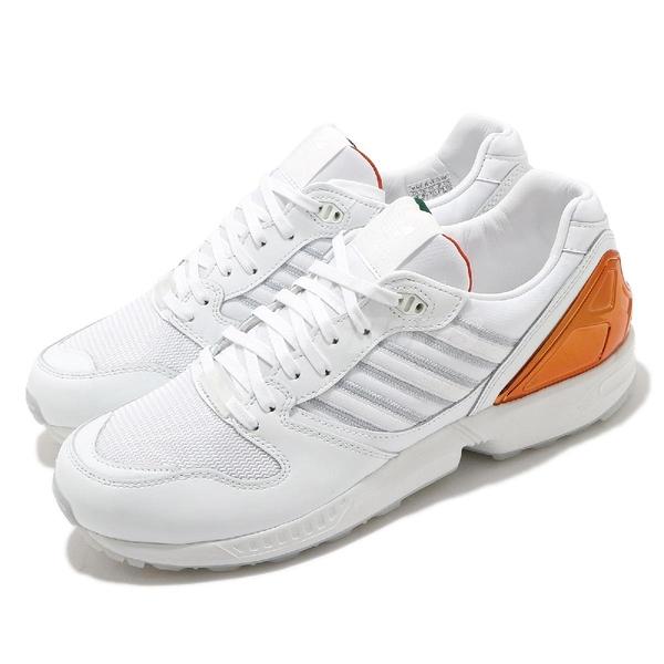 【六折特賣】adidas 休閒鞋 ZX 5000 THE U 白 橘綠 邁阿密大學 颶風隊聯名 男鞋 愛迪達【ACS】 FZ4416