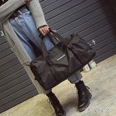 新款時尚健身男女休閒運動手提大容量防水行李旅行袋潮OU2012『伊人雅舍』