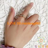不掉色戒指輕奢高級指環女時尚個性小眾設計開口食指【奇妙商鋪】