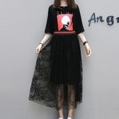 胖仙女夏裝2款遮肉套裝洋氣時髦胖mm大碼女裝遮肚子連身裙潮 超值價