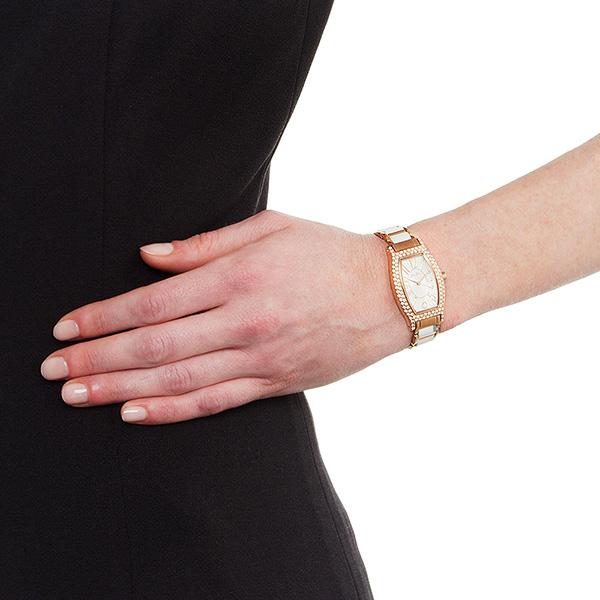 Folli Follie Ceramic華麗晶鑽陶瓷女錶-白x玫瑰金框/24mm WF2B027BPS-XX