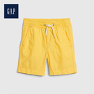 Gap 男幼童 活力亮色鬆緊腰短褲 541838-淡黃色