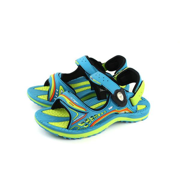 GP(Gold.Pigon) 涼鞋 防水 雨天 藍綠色 大童 童鞋 G8675B-60 no938