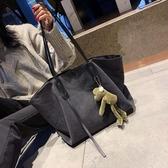 托特包大容量包包女2020新款韓版時尚帆布包大學生上課側背包簡約托特包 雲朵走走