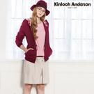 【Kinloch Anderson金安德森】甜美氣質貼袋飾釦五分裙(米卡其/黑) KA0774004