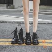 馬丁靴女百搭秋冬厚底短靴子休閒氣質工裝靴【橘社小鎮】