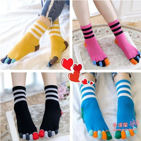 五指襪 播扣五指襪女士短筒船襪子夏季全棉質薄款可愛卡通中統隱形分腳趾