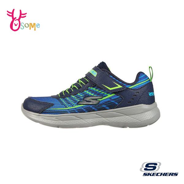 Skechers童鞋 男童運動鞋 SNAP SPRINTS 2.0 輕量運動鞋 酷帥紋理 跑步鞋 慢跑鞋 魔鬼氈 W8256#藍綠