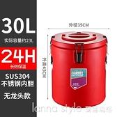 保溫桶商用擺攤涼粉飯湯桶大容量奶茶小型不銹鋼保溫桶商用冷藏桶 全館新品85折