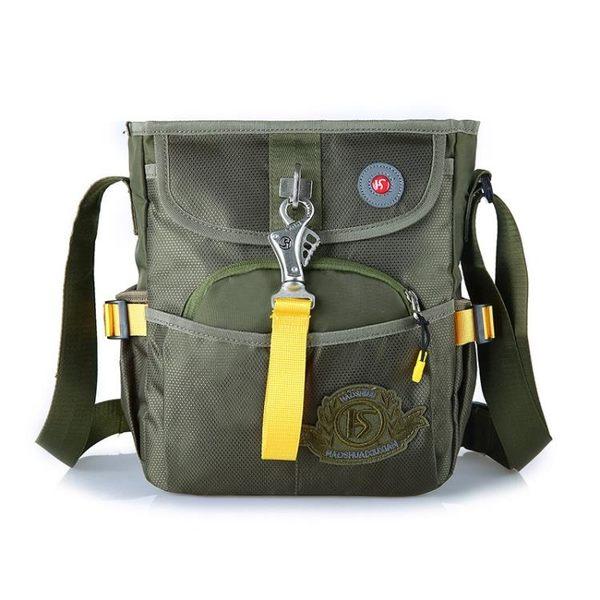 戶外尼龍防水斜背包 男單肩小包運動側背包《印象精品》e382