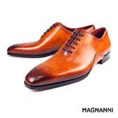 【MAGNANNI】極致簡約牛津皮鞋 棕色(19558-CUE)