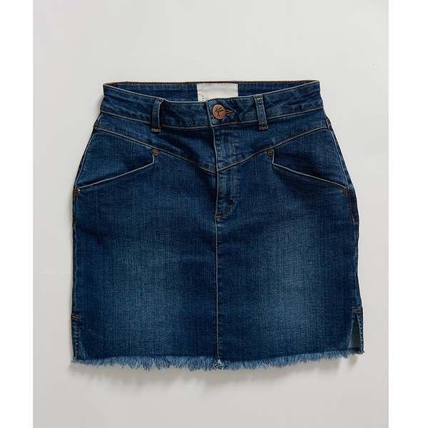 ONETEASPOON  WW  ALABAMA PREACHER HIGH WAIST DENIM SKIRT  牛仔短裙-藍(女)