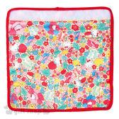 〔小禮堂〕Hello Kitty 嬰兒車安全帶套《黃.紅邊.花朵.蘋果.滿版》增加美觀及舒適感 4971404-30862