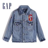 Gap男幼童時尚徽標LOGO水洗牛仔衣520262-中度水洗