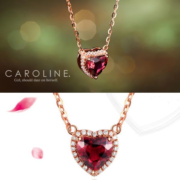 《Caroline》★情人節特選紅心甜美魅力、高雅大方設計配飾流行時尚項鍊69649