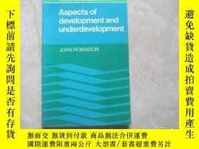 二手書博民逛書店aspects罕見of development and underdevelopmentY179148 asp