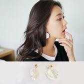 耳環 立體 多層 貝殼 造型 甜美 時尚 耳環【DD1609026】 icoca  06/22