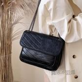 高級感包包洋氣女士包包新款潮韓版百搭質感斜挎包時尚側背包  魔法鞋櫃