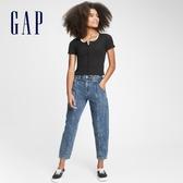 Gap女童 潮流水洗寬鬆式休閒牛仔褲 609839-水洗藍