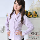 【S-38E】森奈健-浪漫花邊上班族長袖OL女襯衫(粉紫色)
