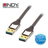 LINDY 林帝 CROMO鉻 系列 USB3.0 A公 to A公傳輸線 1m (41601)