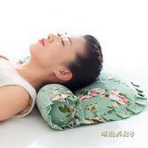 頸椎枕頭修復護頸椎專用脖枕成人脊椎保健枕單人圓柱枕頭蕎麥枕芯「時尚彩虹屋」