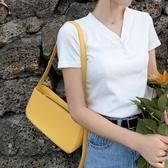 夏天中古包包女2020新款腋下包pu單肩女包時尚百搭法棍包手提小包側背包