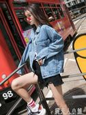 網紅牛仔褂春秋新款韓版短款寬鬆bf風牛仔衣服女大碼胖MM外套 钱夫人
