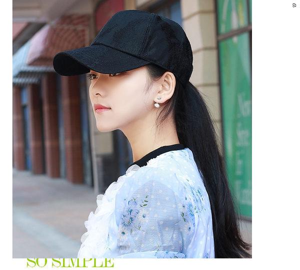 鏤空刺繡帽子夏季女士棒球帽韓版潮戶外透氣太陽帽鴨舌夏天遮陽帽