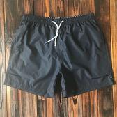 泳褲男 沙灘褲三分速干短褲有內襯 大碼休閒褲寬鬆溫泉男泳褲   初見居家