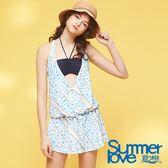 【Summer Love 夏之戀】浪漫風長版三件式泳衣(S18731)