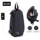 KGH 休閒胸包 單肩USB斜背包 運動單肩小包 01RR3718
