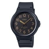 CASIO 大錶面簡約文青休閒錶-黑x金(MW-240-1B2)