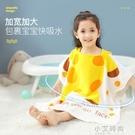 南極人兒童浴巾可穿中大童帶帽斗篷寶寶純棉吸水洗澡浴袍嬰兒夏季【小艾新品】