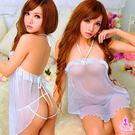 情趣睡衣 純潔魅力!後開襟二件式睡襯衣 SEXYBABY 性感寶貝 11030125-1