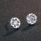 耳環 925純銀鑲鑽銀飾-雪花清新生日情人節禮物女飾品73dy72【時尚巴黎】