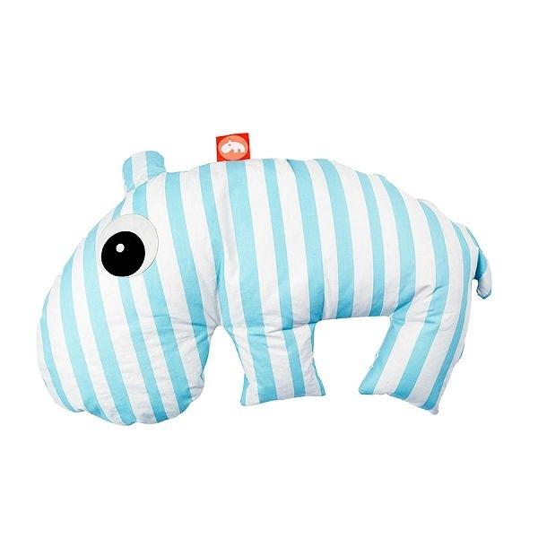 丹麥 DONE BY DEER 河馬懶骨頭抱枕/授乳枕 藍色