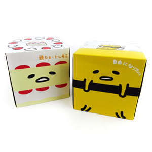 蛋黃哥衛生紙 日製玉子燒及蛋糕造型方形盒裝抽取面紙(2入1組)/衛生紙 [喜愛屋]