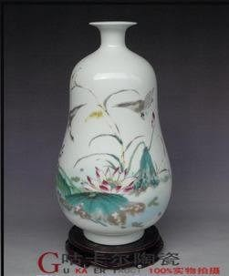 居家裝飾品 景德鎮陶瓷器花瓶 葫蘆瓶