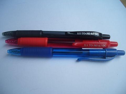 MIT 台灣製 303 中油筆0.7mm藍黑紅 (印製廣告筆客製化) 1000支/件 只要30000元/件(含版費及單色印製).