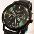 【萬年鐘錶】MINI Cooper Swiss Watches 簡約風腕錶- 銀綠x黑    42mm  MINI-160639