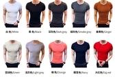 夏季短袖男t恤韓版修身半袖男士緊身體恤純色純棉衣服打底衫 嬌糖小屋