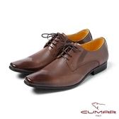 CUMAR男鞋 英式型男簡約皮鞋-咖