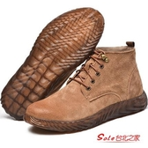勞保鞋 男士防砸防刺穿電焊工專用高筒超輕便冬季工地工作棉鞋 2色37-46 快速出貨