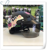 Hello Kitty安全帽,雪帽,K825,KT020/消光黑,附抗UV-PC安全鏡片