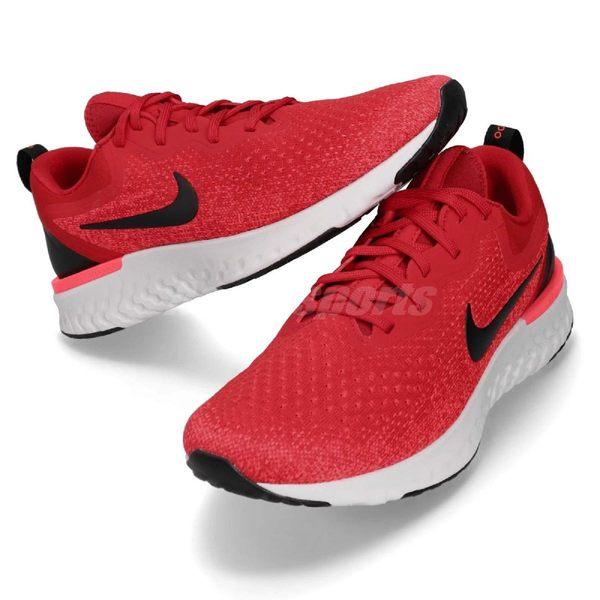 【六折特賣】Nike 慢跑鞋 Odyssey React 紅 黑 緩震回彈舒適 男鞋 運動鞋【PUMP306】 AO9819-601