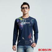 BOBSON 男款俏皮印圖素材上衣 (35024-53)