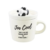 小禮堂 史努比 陶瓷馬克杯 附造型蓋 寬口杯 咖啡杯 茶杯 大西賢陶瓷 (白 墨鏡) 4981181-76569